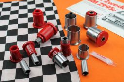 Control Arm Bushing Set Kadett C / Manta with Sleeves RED