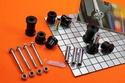 Rear Axle Bushings Set, PU - Sport Kit, Black