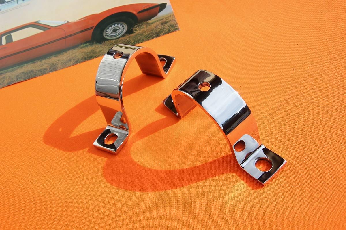 Halteschellen Lenkgetriebe Opel GT , VA / chrom